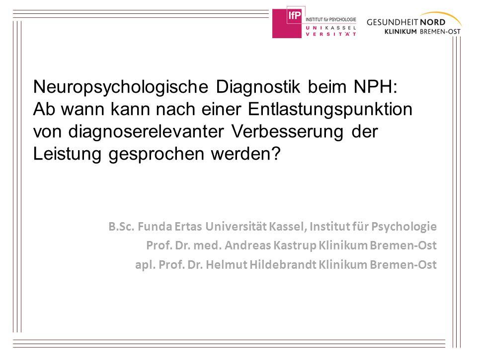 Neuropsychologische Diagnostik beim NPH: Ab wann kann nach einer Entlastungspunktion von diagnoserelevanter Verbesserung der Leistung gesprochen werden