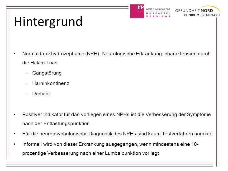 Hintergrund Normaldruckhydrozephalus (NPH): Neurologische Erkrankung, charakterisiert durch die Hakim-Trias: