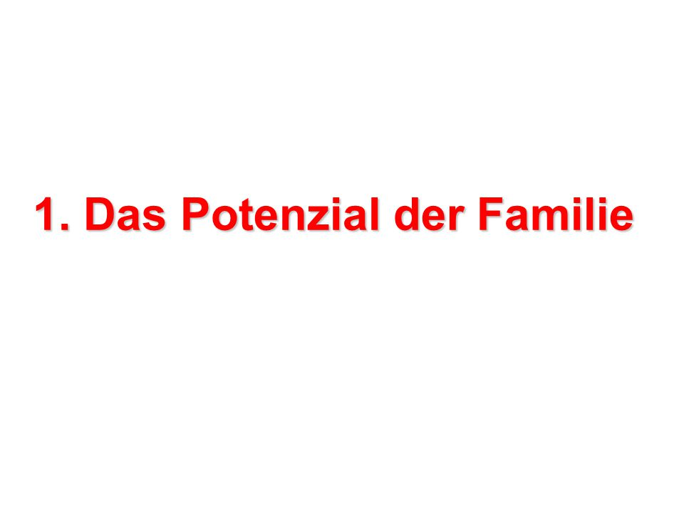 1. Das Potenzial der Familie