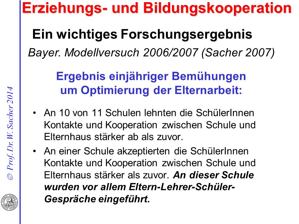Ein wichtiges Forschungsergebnis