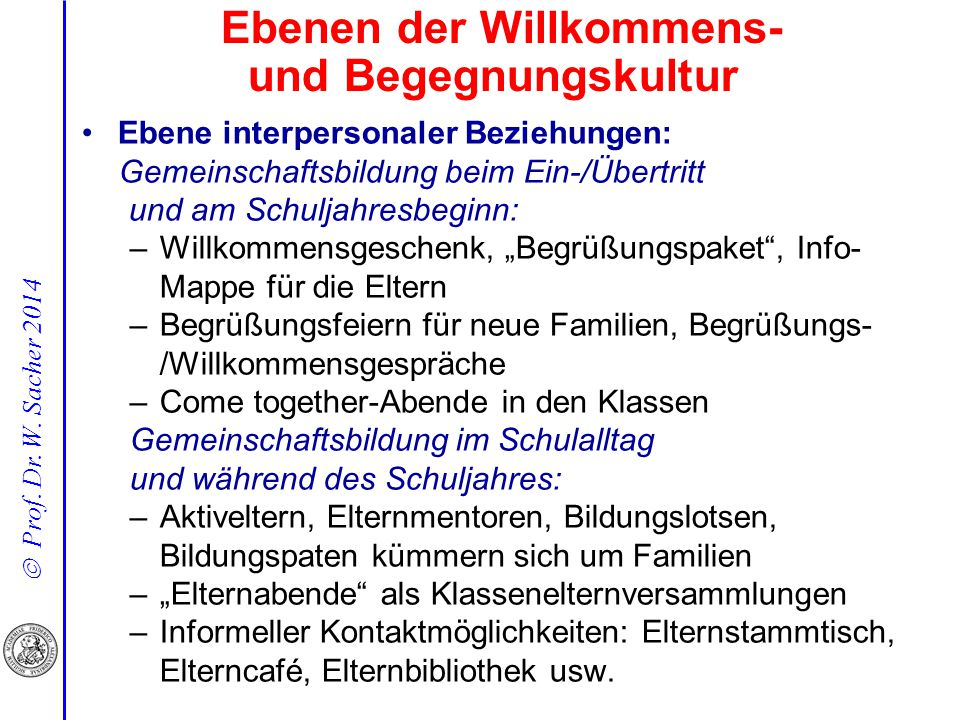 Ebenen der Willkommens- und Begegnungskultur