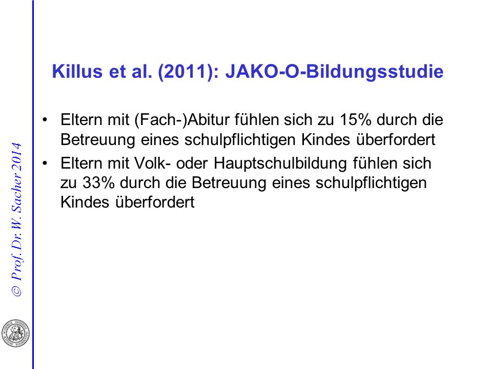 Killus et al. (2011): JAKO-O-Bildungsstudie