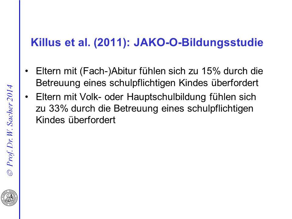 Killus et al. (2011): JAKO-O-Bildungsstudie