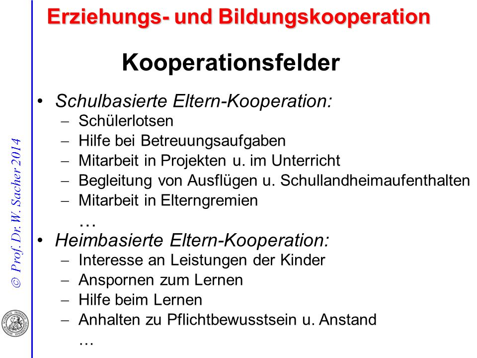 Erziehungs- und Bildungskooperation