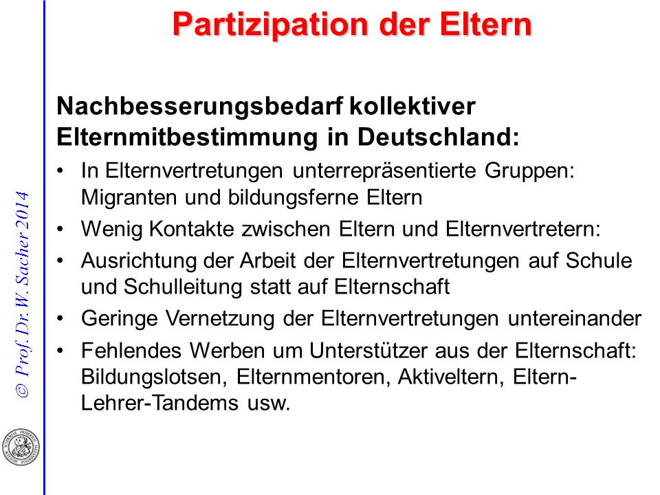 Partizipation der Eltern