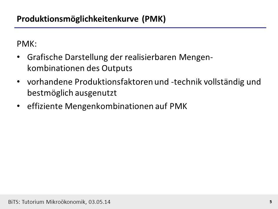 Produktionsmöglichkeitenkurve (PMK)