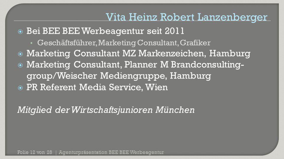 Vita Heinz Robert Lanzenberger