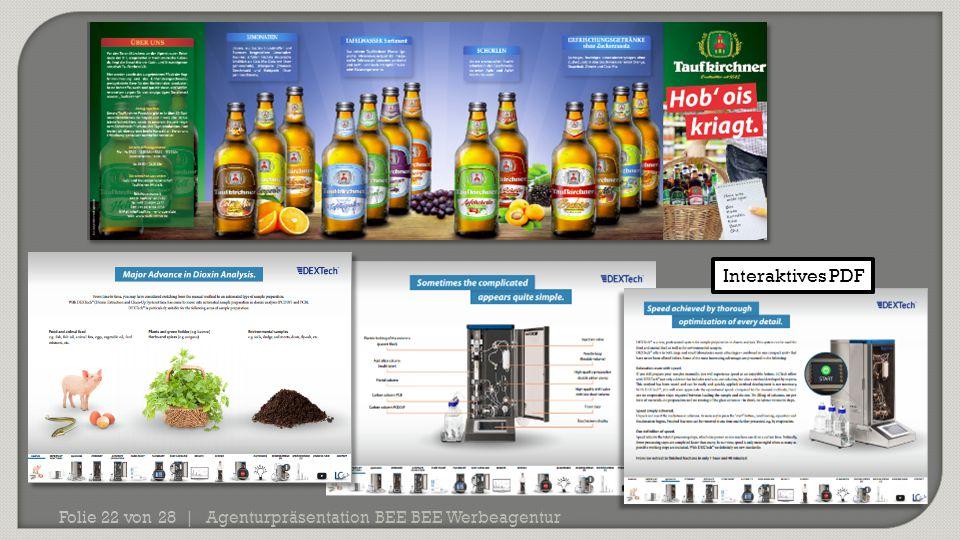 Interaktives PDF Agenturpräsentation BEE BEE Werbeagentur