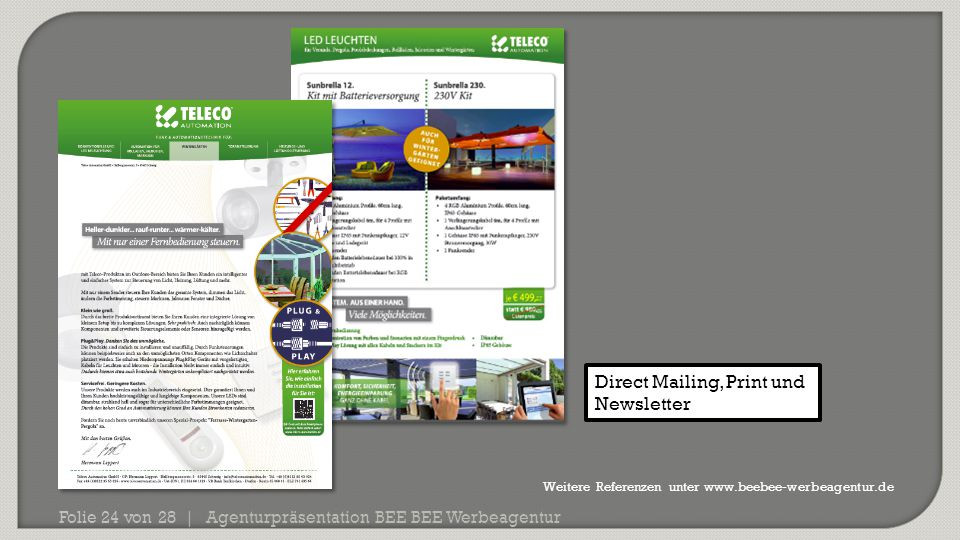 Direct Mailing, Print und Newsletter