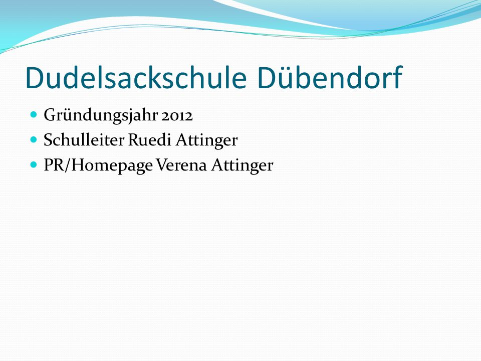 Dudelsackschule Dübendorf