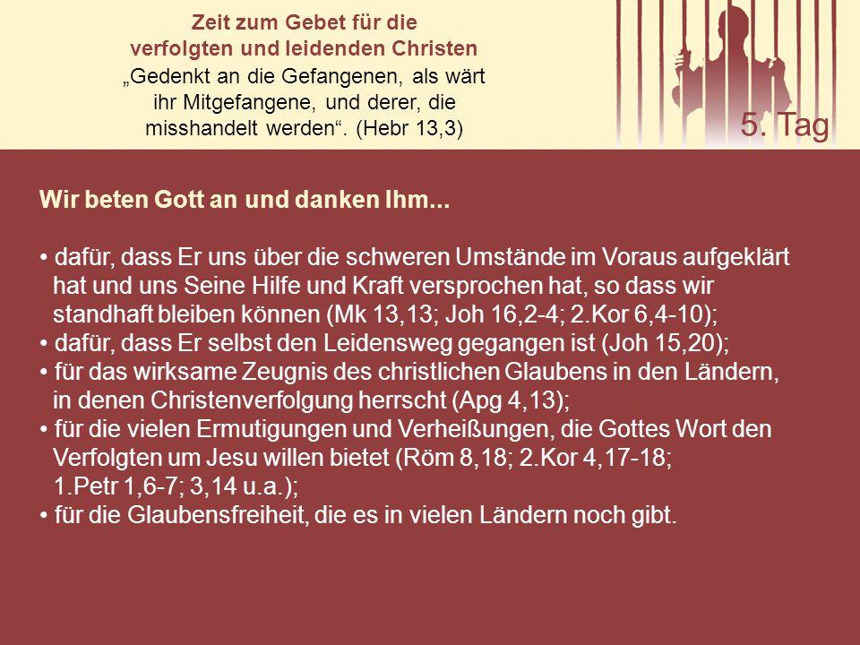 verfolgten und leidenden Christen