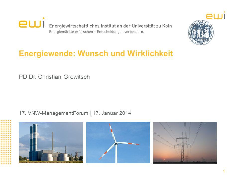 Energiewende: Wunsch und Wirklichkeit