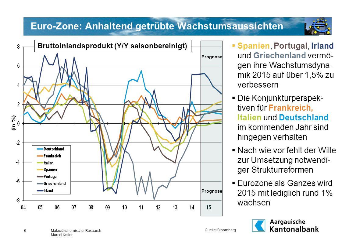 Euro-Zone: Anhaltend getrübte Wachstumsaussichten