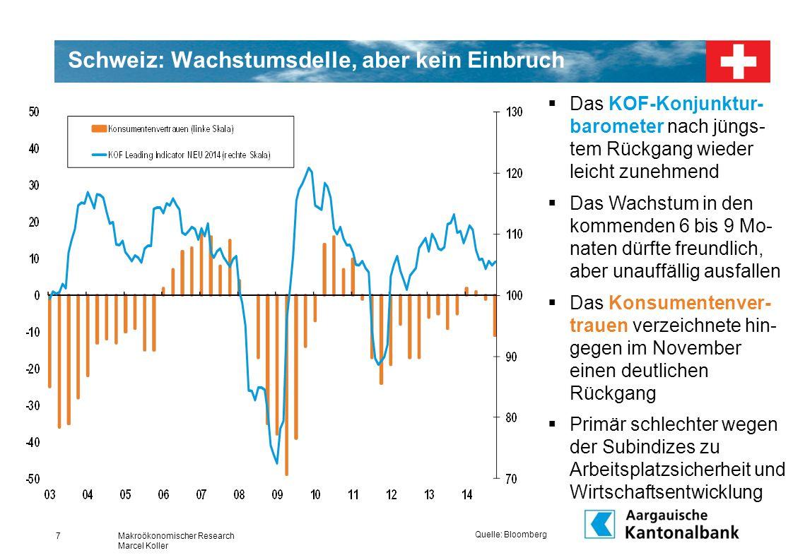 Schweiz: Wachstumsdelle, aber kein Einbruch
