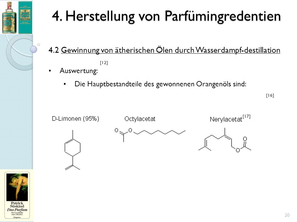 4. Herstellung von Parfümingredentien