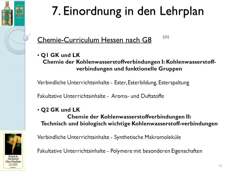 7. Einordnung in den Lehrplan