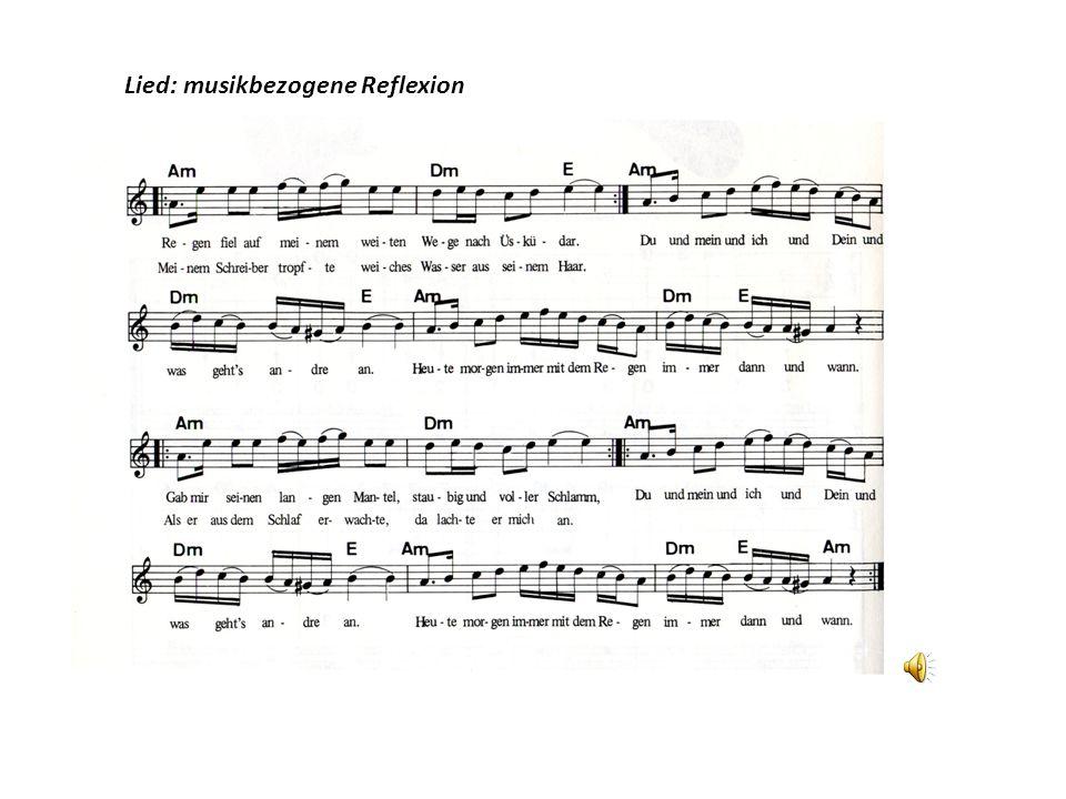 Lied: musikbezogene Reflexion