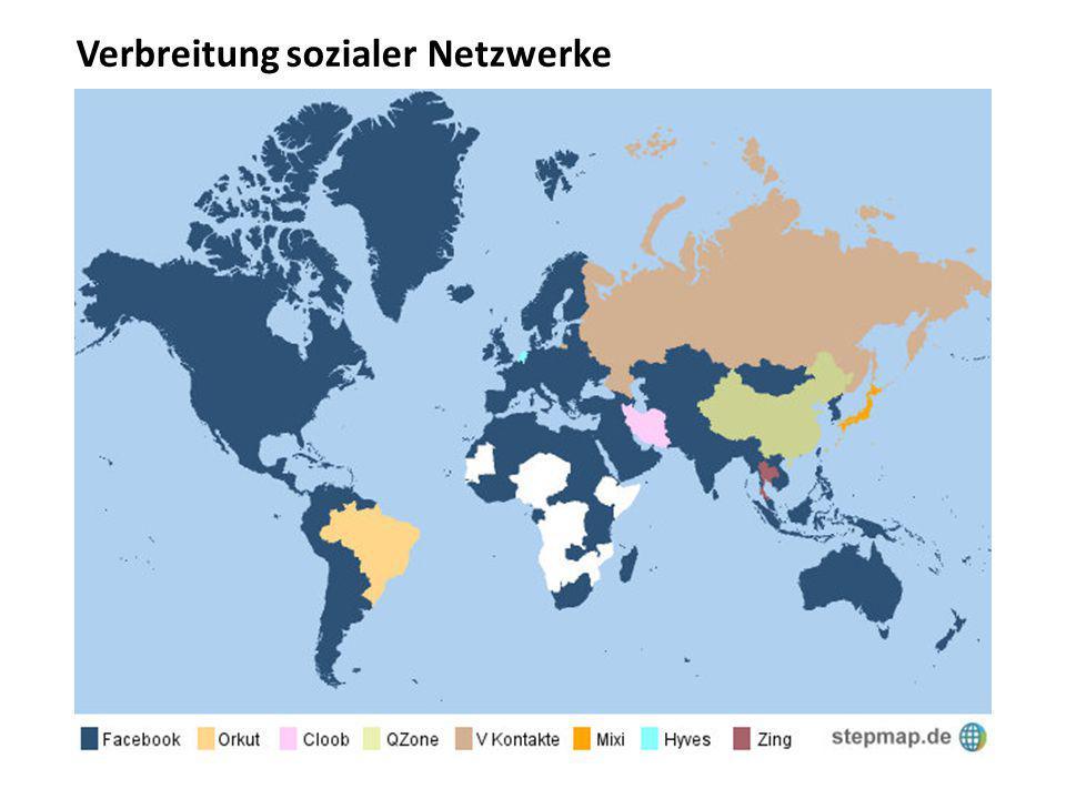 Verbreitung sozialer Netzwerke