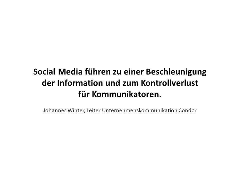 Social Media führen zu einer Beschleunigung