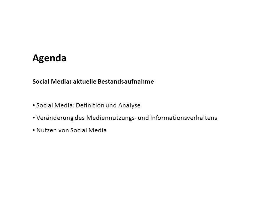 Agenda Social Media: aktuelle Bestandsaufnahme