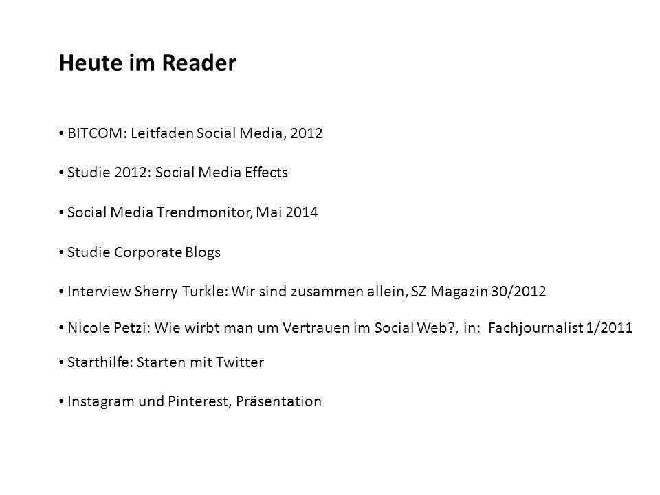Heute im Reader BITCOM: Leitfaden Social Media, 2012