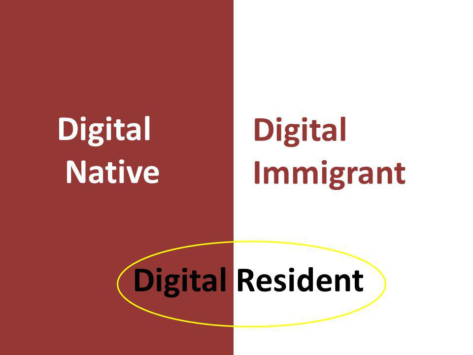 Digital Native Digital Immigrant Digital Resident