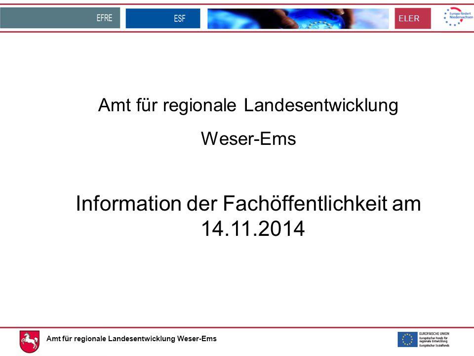 Information der Fachöffentlichkeit am 14.11.2014