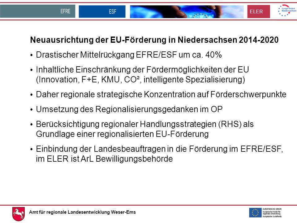 Neuausrichtung der EU-Förderung in Niedersachsen 2014-2020