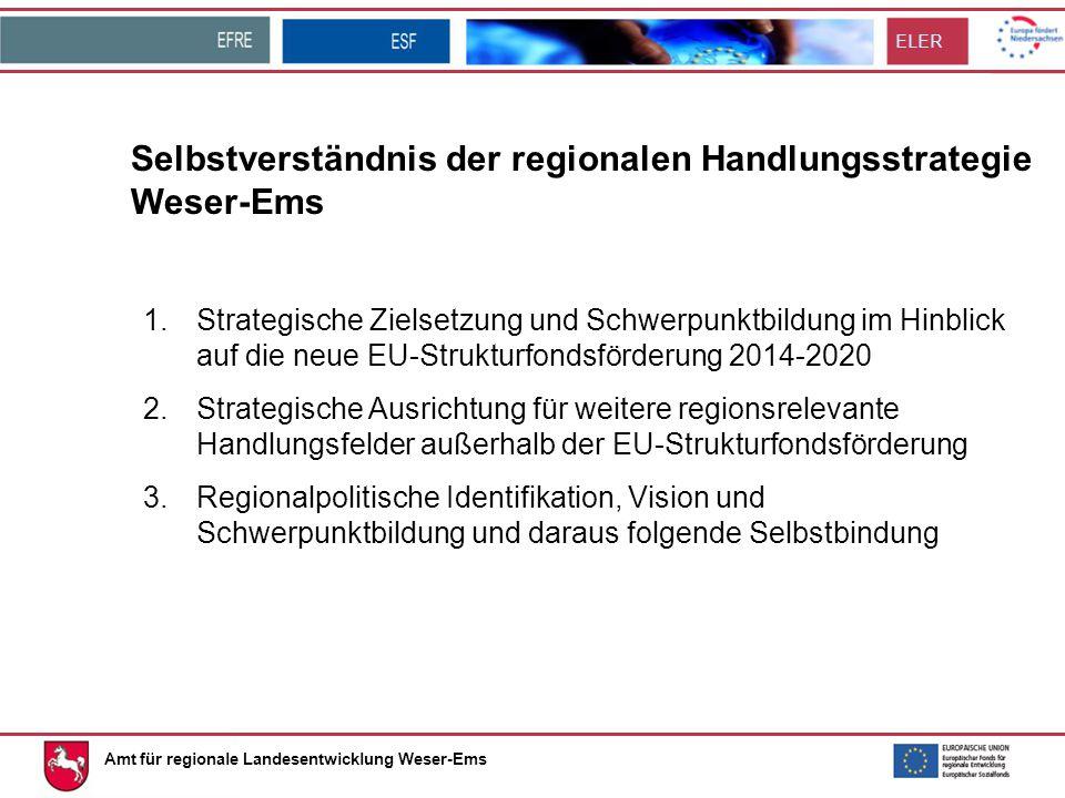 Selbstverständnis der regionalen Handlungsstrategie Weser-Ems
