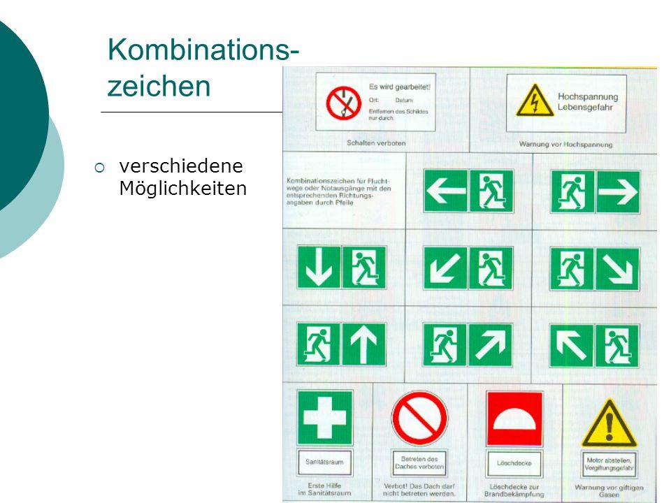 Kombinations- zeichen