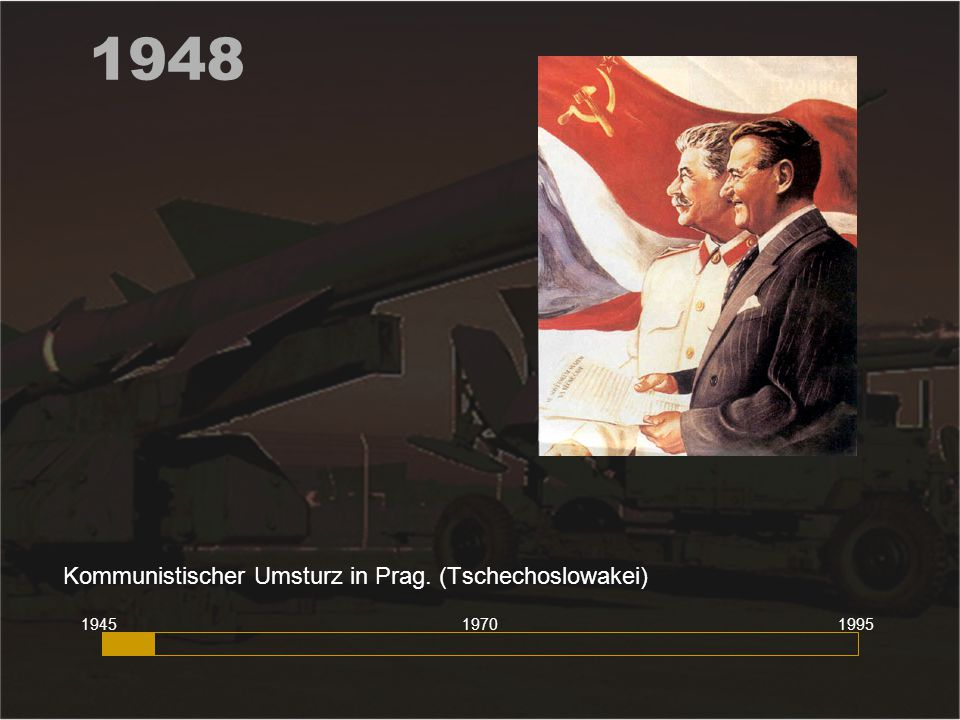 Kommunistischer Umsturz in Prag. (Tschechoslowakei)