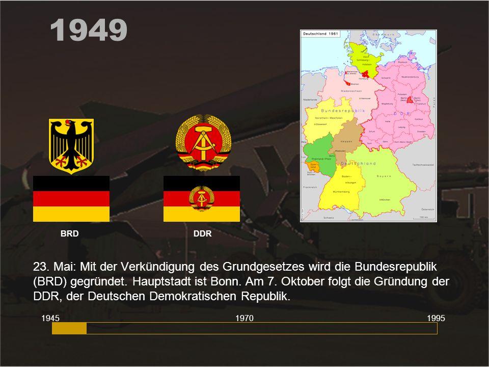 1949 BRD DDR.