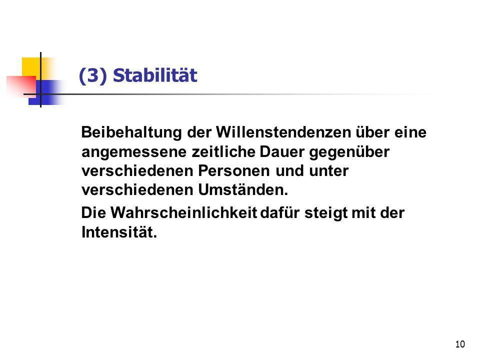 (3) Stabilität