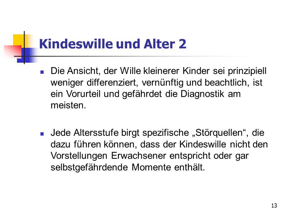 Kindeswille und Alter 2