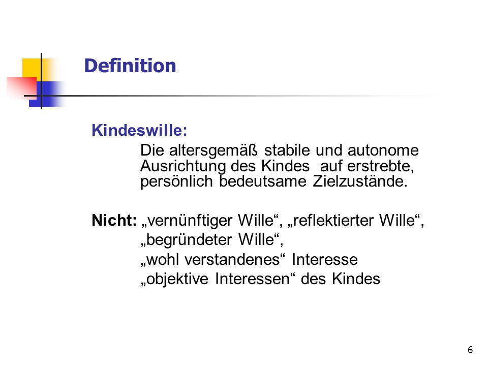 Definition Kindeswille: