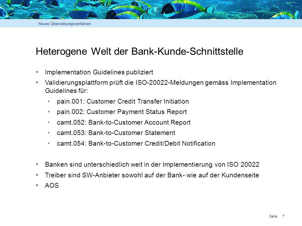 Heterogene Welt der Bank-Kunde-Schnittstelle