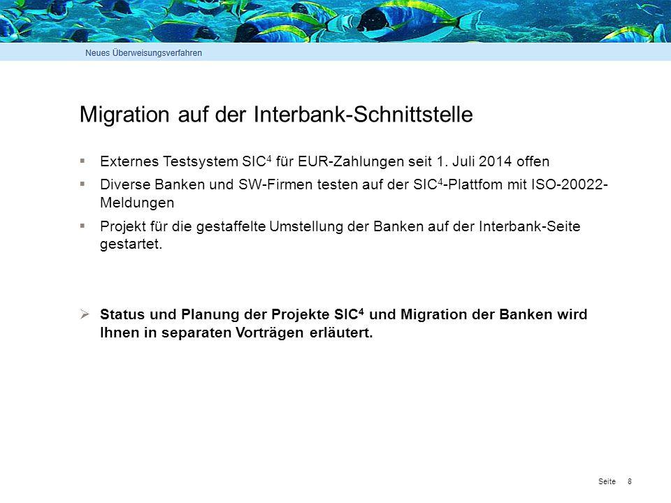 Migration auf der Interbank-Schnittstelle