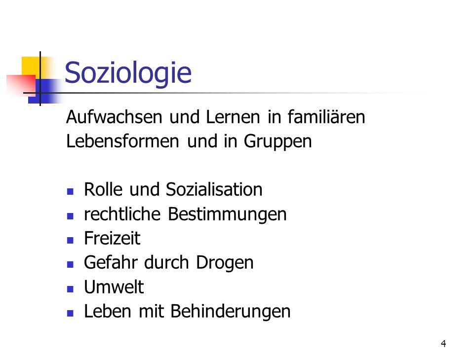 Soziologie Aufwachsen und Lernen in familiären