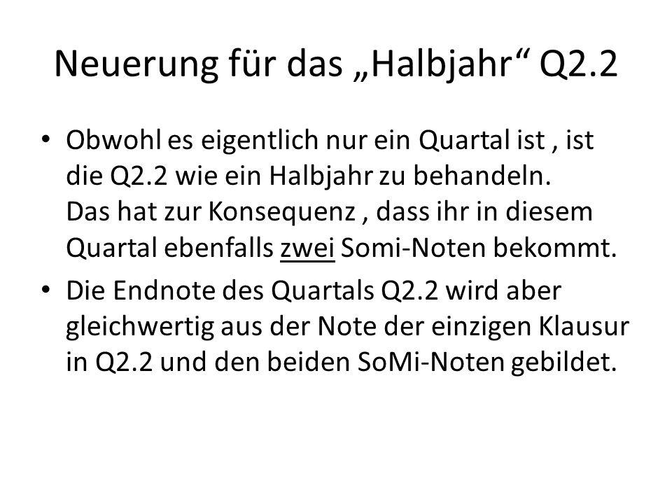 """Neuerung für das """"Halbjahr Q2.2"""
