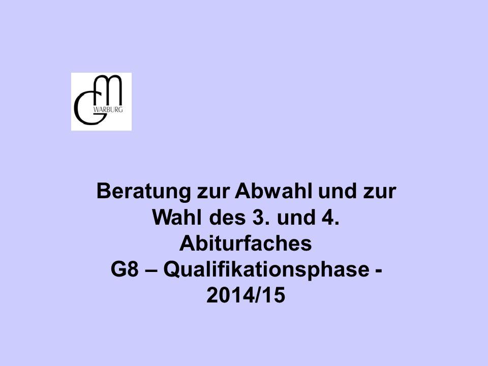 Beratung zur Abwahl und zur Wahl des 3. und 4. Abiturfaches
