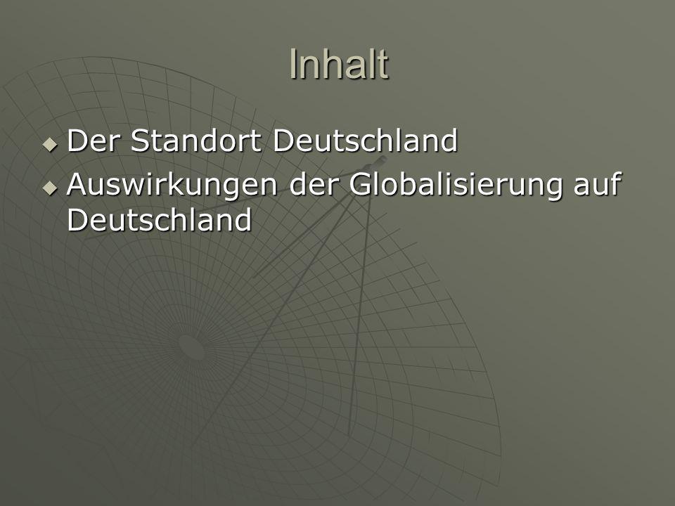 Inhalt Der Standort Deutschland