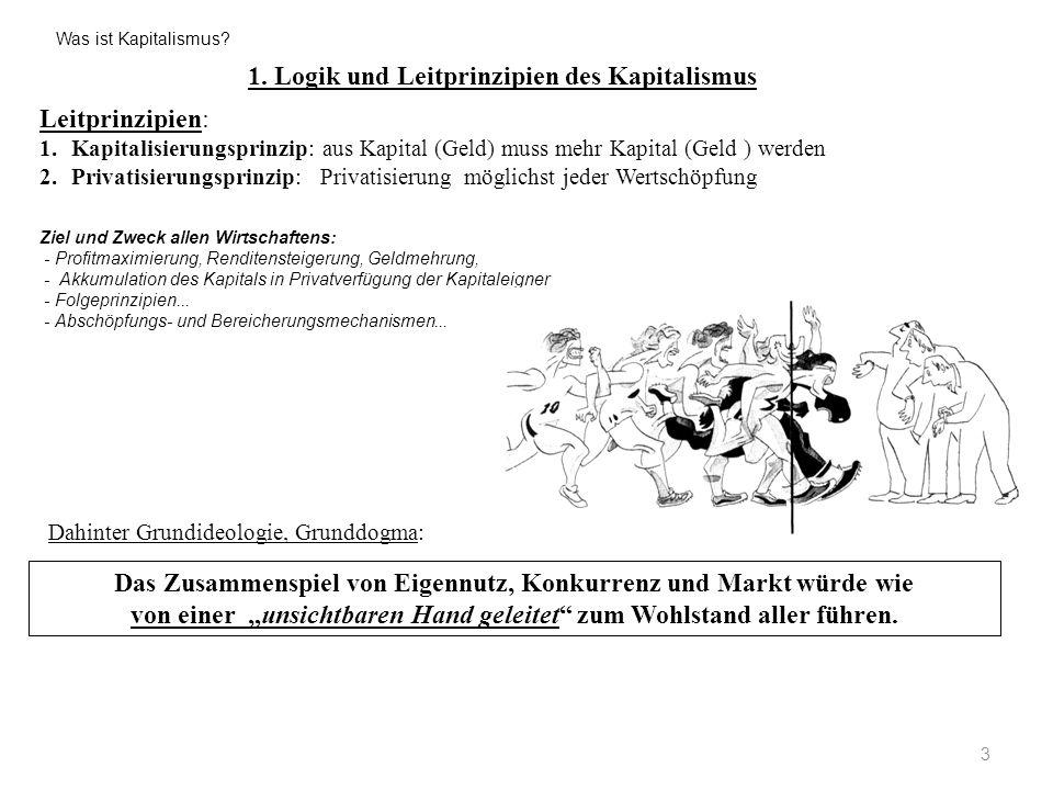 1. Logik und Leitprinzipien des Kapitalismus