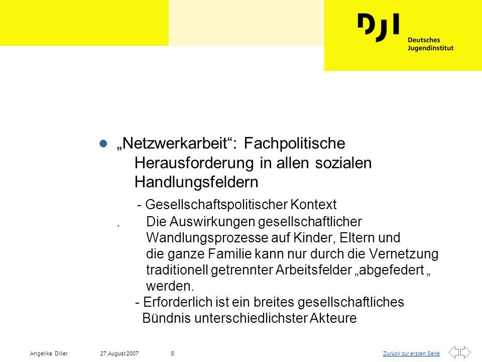 """""""Netzwerkarbeit : Fachpolitische Herausforderung in allen sozialen Handlungsfeldern - Gesellschaftspolitischer Kontext ."""