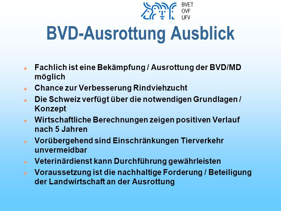 BVD-Ausrottung Ausblick