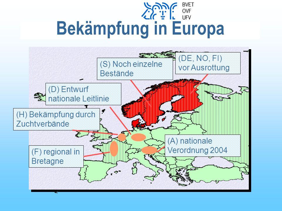 Bekämpfung in Europa (DE, NO, FI) vor Ausrottung