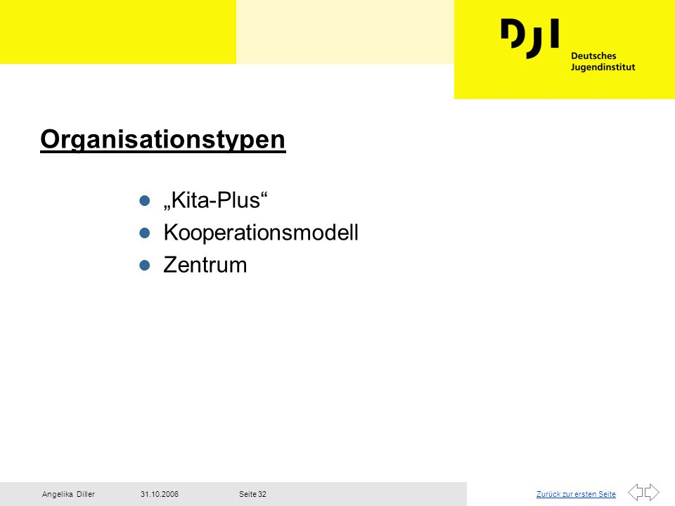 "Organisationstypen ""Kita-Plus Kooperationsmodell Zentrum"