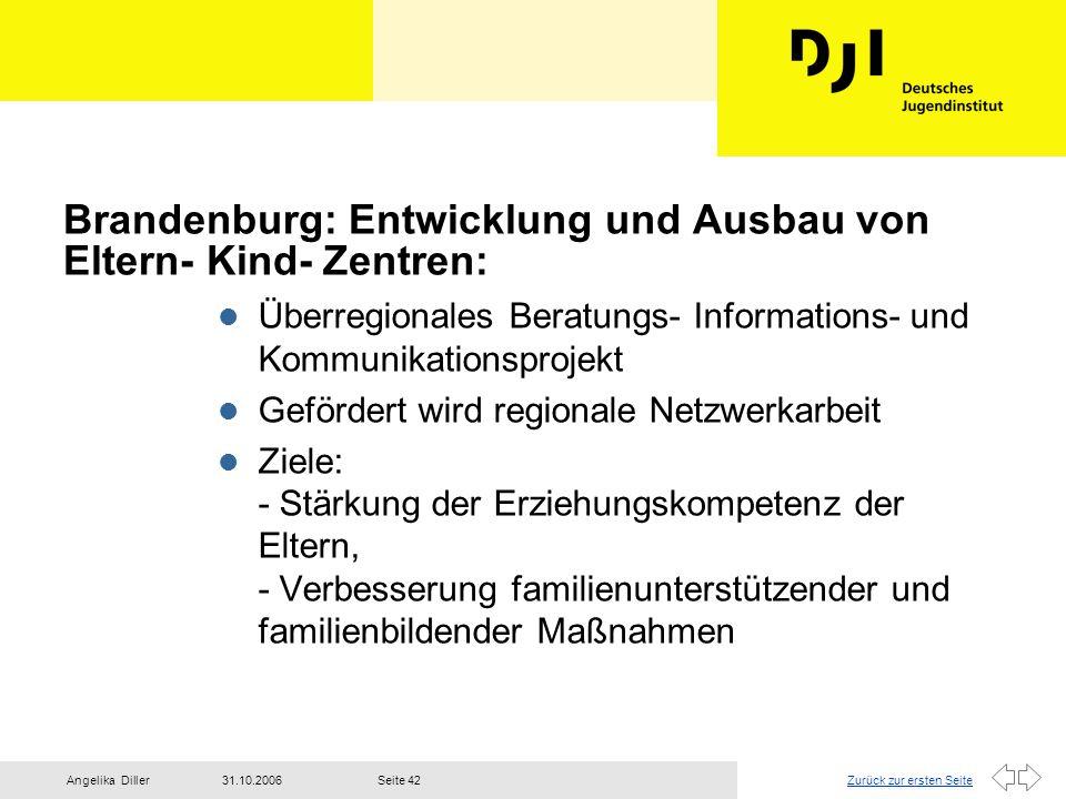Brandenburg: Entwicklung und Ausbau von Eltern- Kind- Zentren: