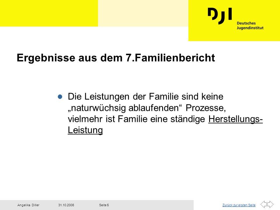 Ergebnisse aus dem 7.Familienbericht