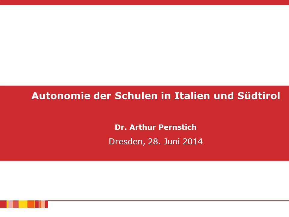 Autonomie der Schulen in Italien und Südtirol