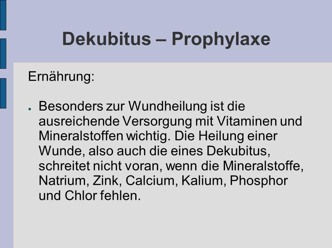 Dekubitus – Prophylaxe